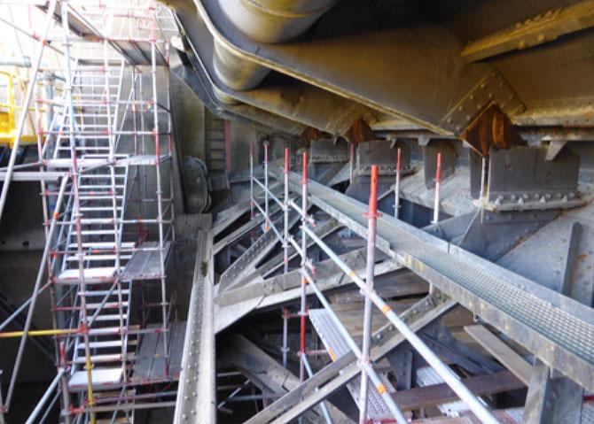 Stauwehr Bauwerkserhaltung von Altstahl Ermüdungsfestigkeit